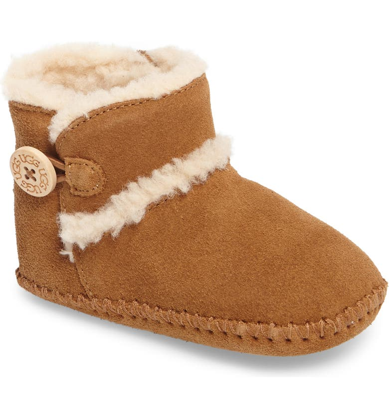 UGG<SUP>®</SUP> Lemmy II Button Bootie, Main, color, CHESTNUT
