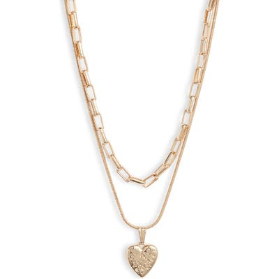 Something Navy Layered Heart Pendant Necklace (Nordstrom Exclusive)