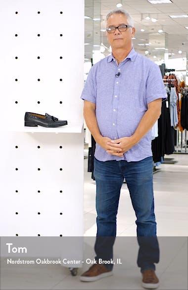 Domani Croc Embossed Tassel Loafer, sales video thumbnail