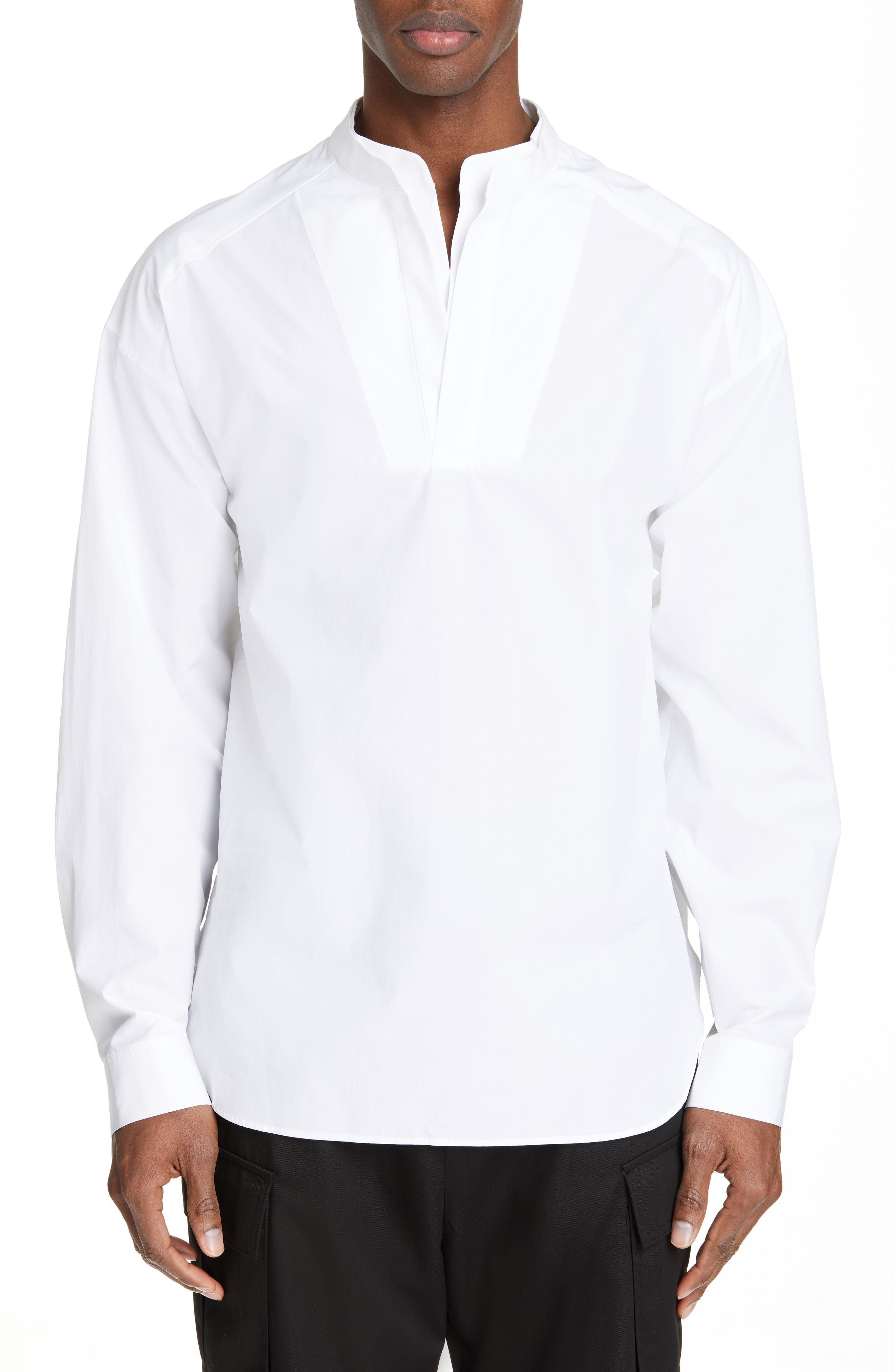 ,                             Mandarin Collar Shirt,                             Main thumbnail 6, color,                             100