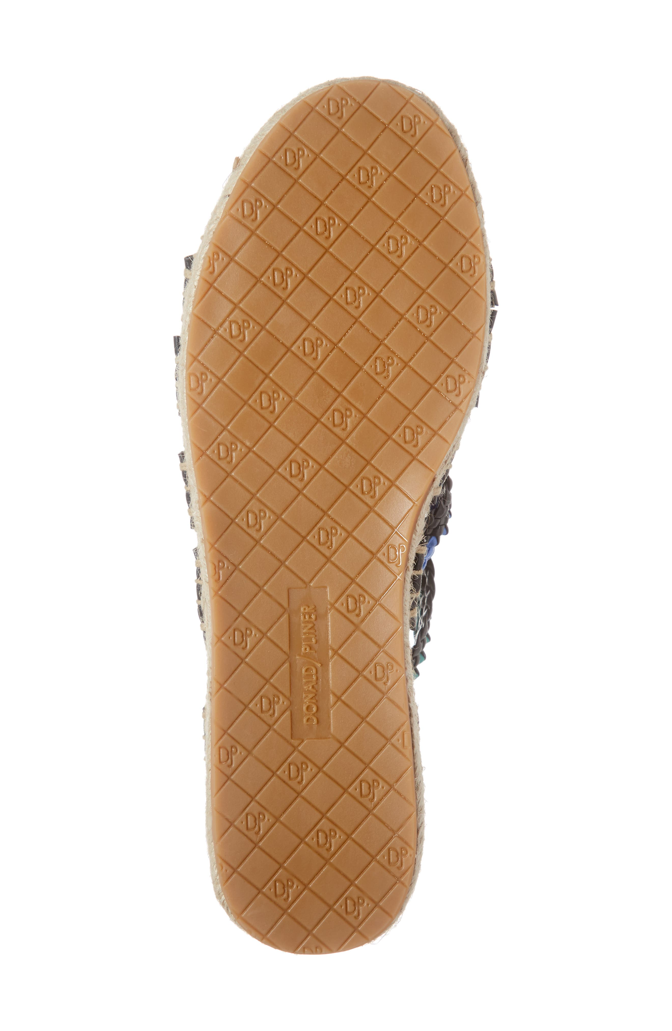 ,                             Rhonda Woven Espadrille Slide Sandal,                             Alternate thumbnail 6, color,                             BLACK MULTI LEATHER