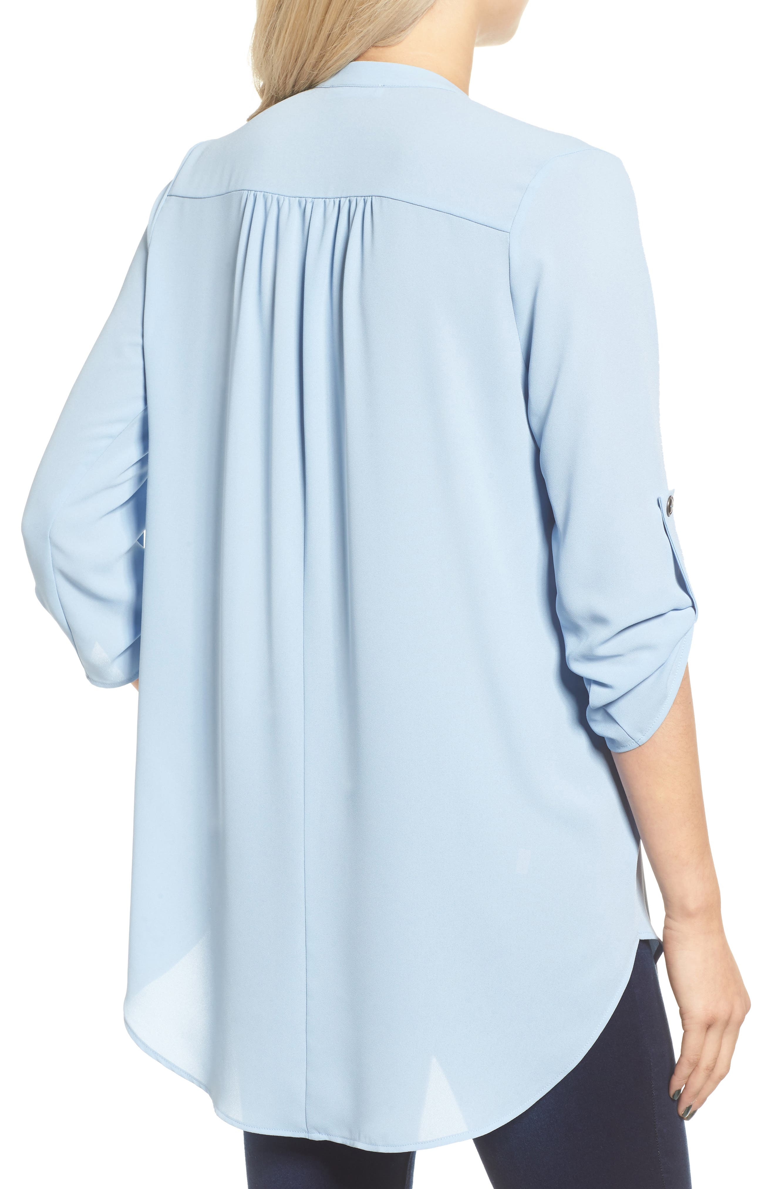 ,                             Perfect Roll Tab Sleeve Tunic,                             Alternate thumbnail 259, color,                             401