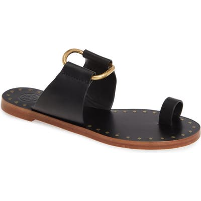 Tory Burch Ravello Toe Ring Sandal, Black