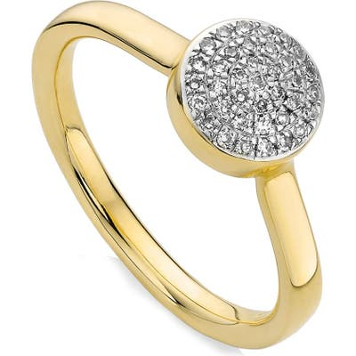 Monica Vinader Ava Diamond Button Ring