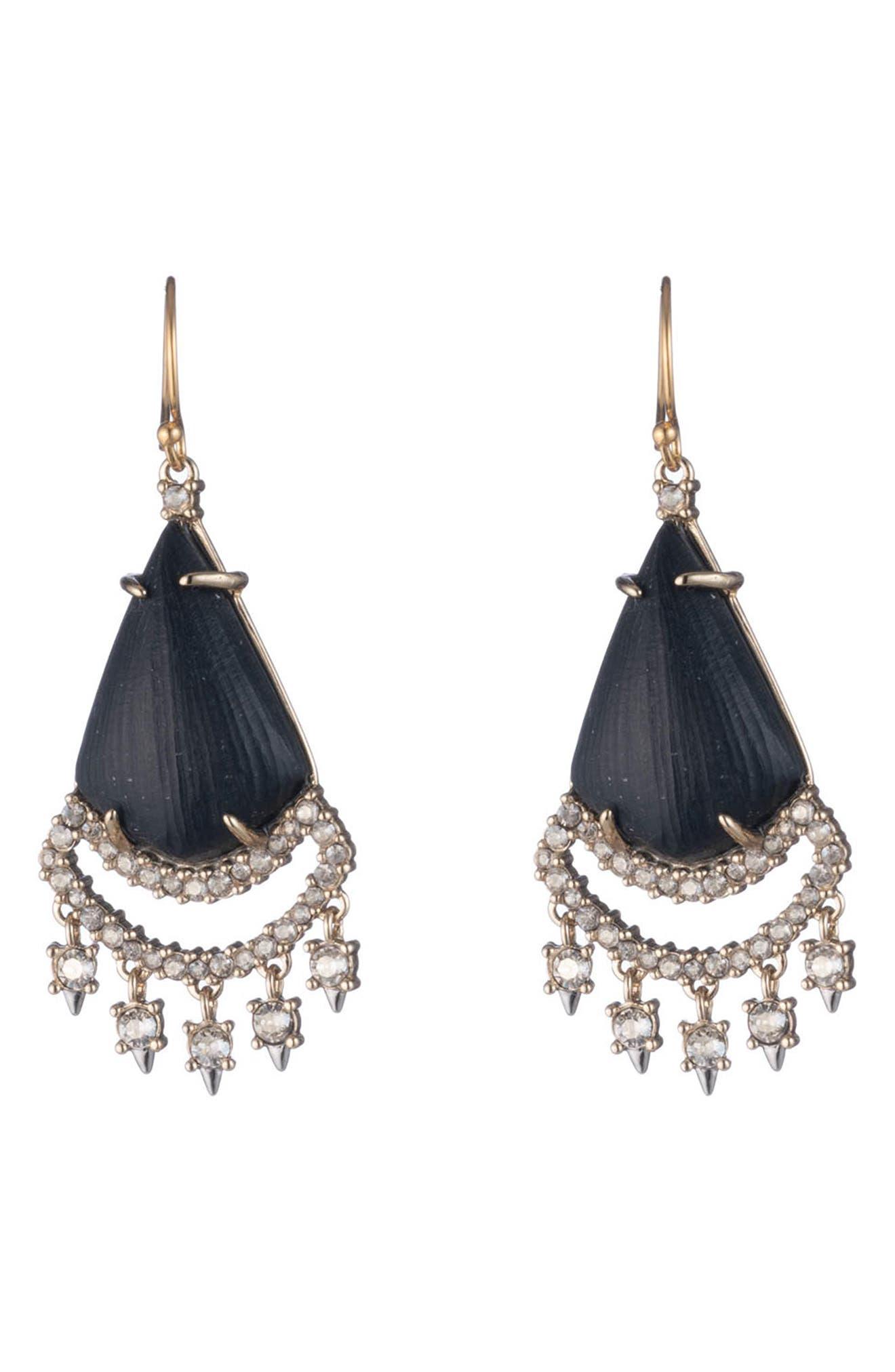 Image of Alexis Bittar Crystal Lace Chandelier Drop Earrings