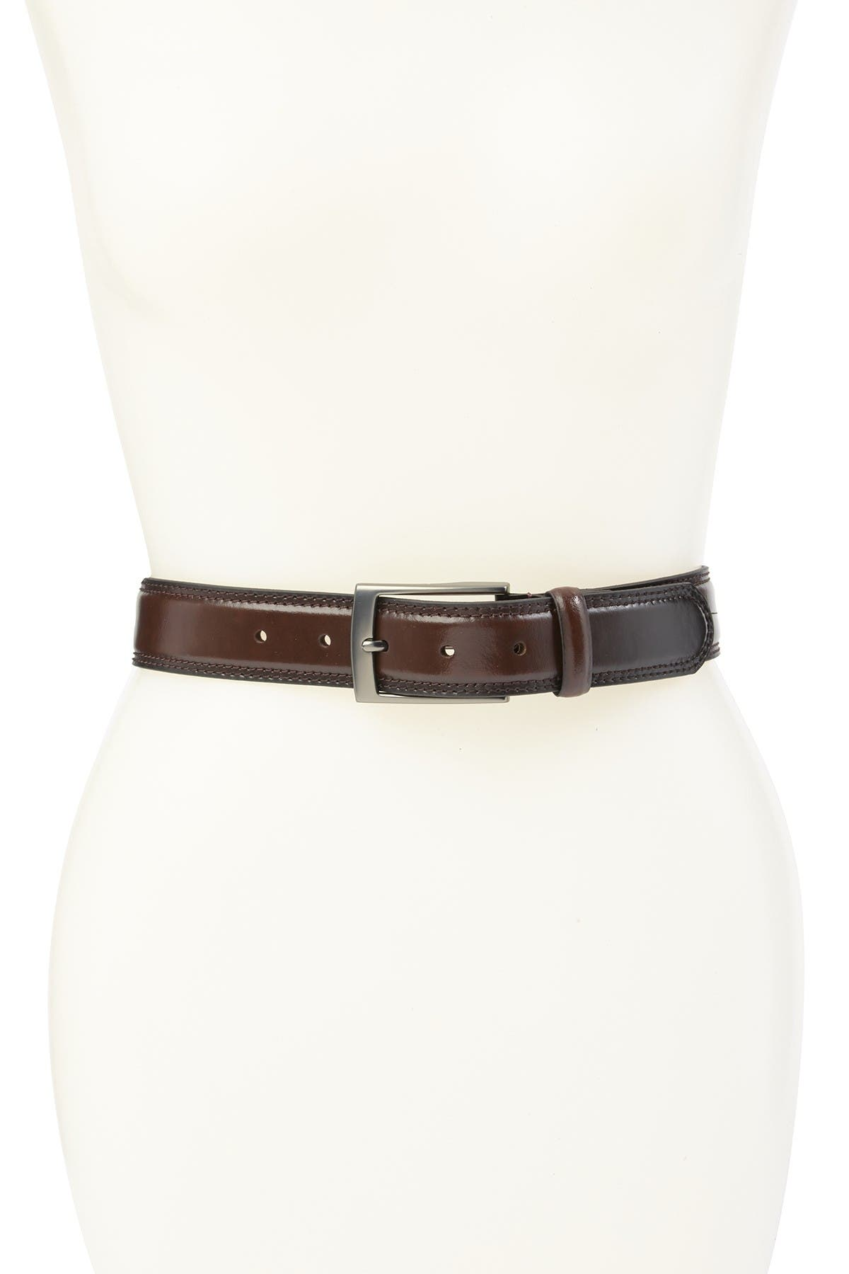 Image of BOCONI Embossed Leather Belt