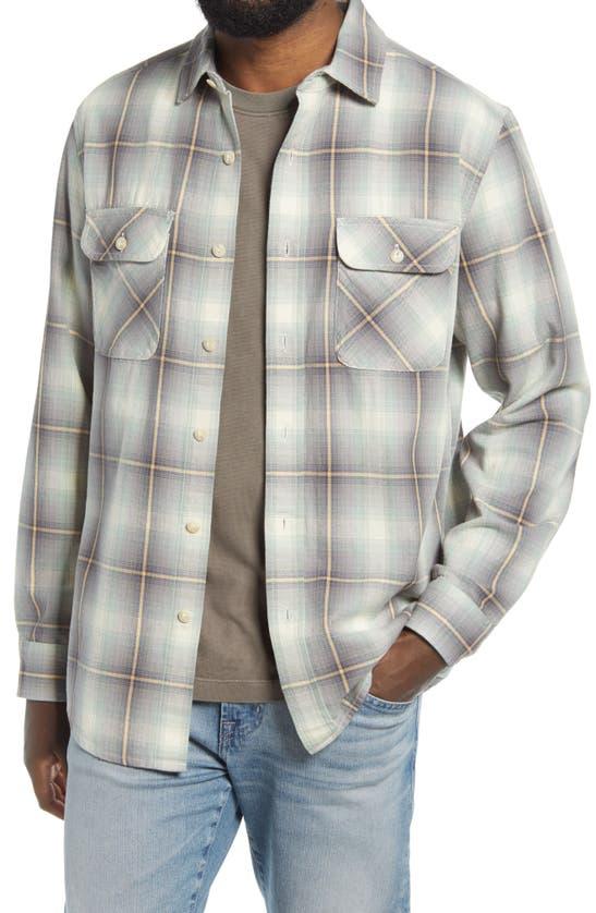 Pendleton Beach Shack Plaid Button-up Shirt In Indigo/ Jade Plaid