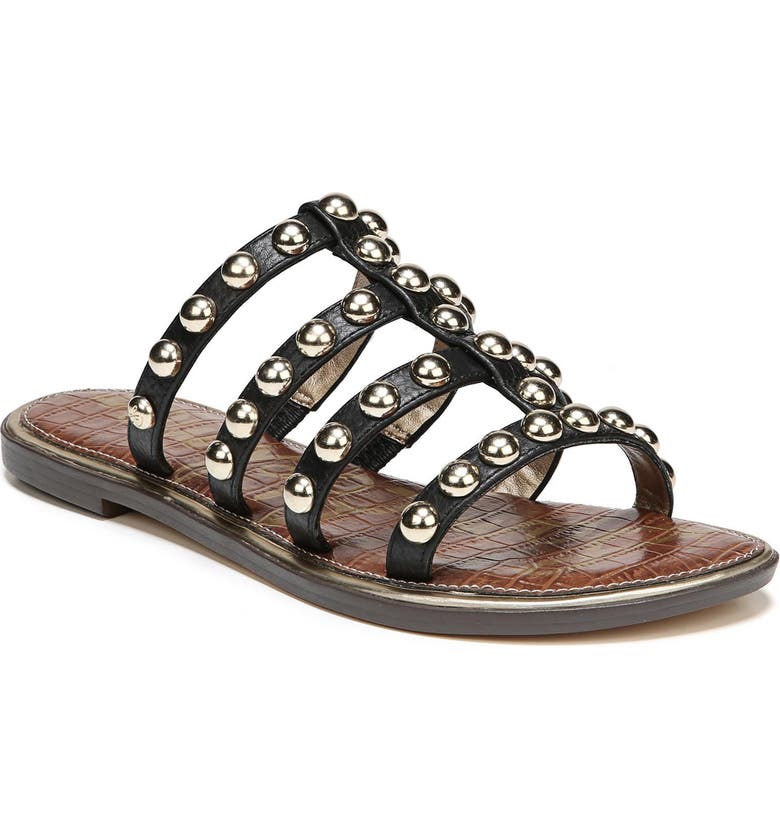 SAM EDELMAN Glenn Studded Slide Sandal, Main, color, 001