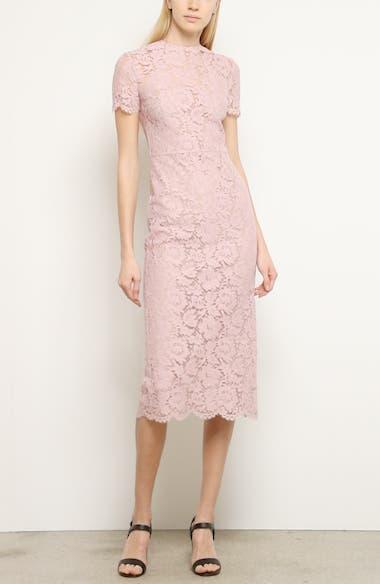 Lace Midi Sheath Dress, video thumbnail