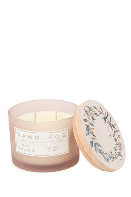Image of SAND AND FOG 12oz. Blush Wreath Saijo Persimmon Candle