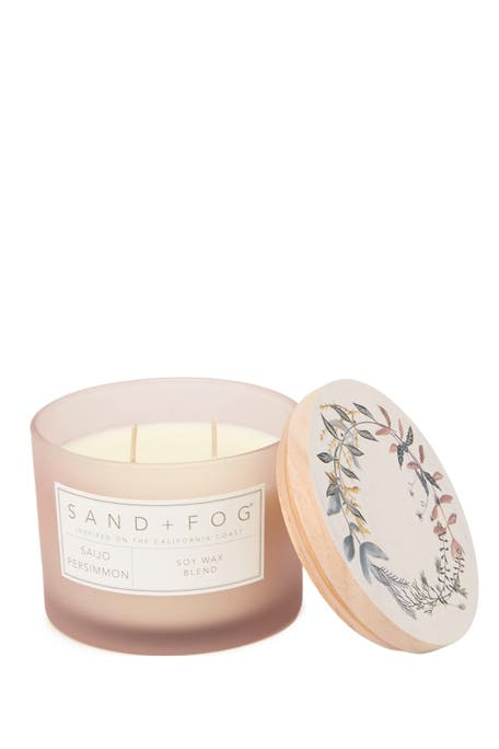 SAND AND FOG - 12oz. Blush Wreath Saijo Persimmon Candle