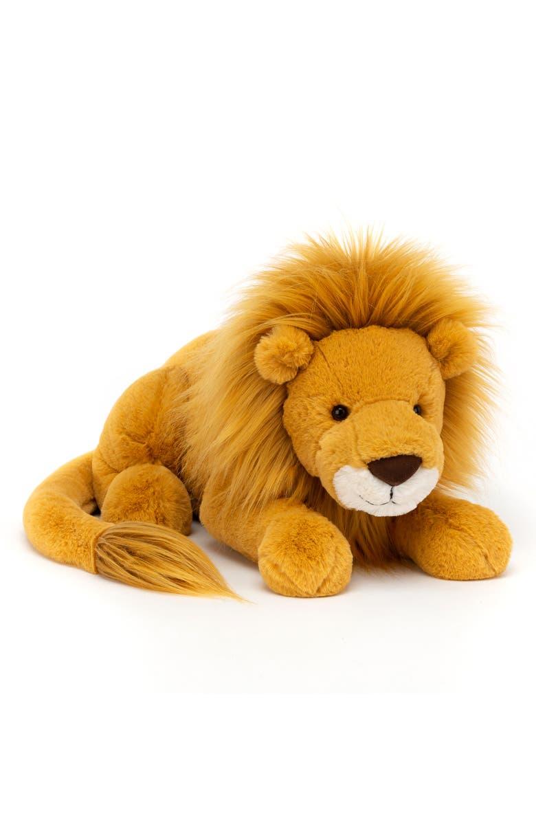 JELLYCAT Large Louie Lion Stuffed Animal, Main, color, 700