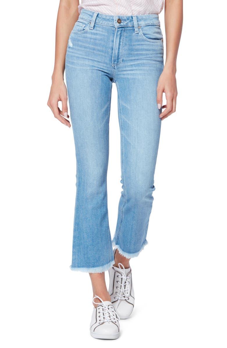 PAIGE Colette High Waist Crop Flare Jeans, Main, color, 400