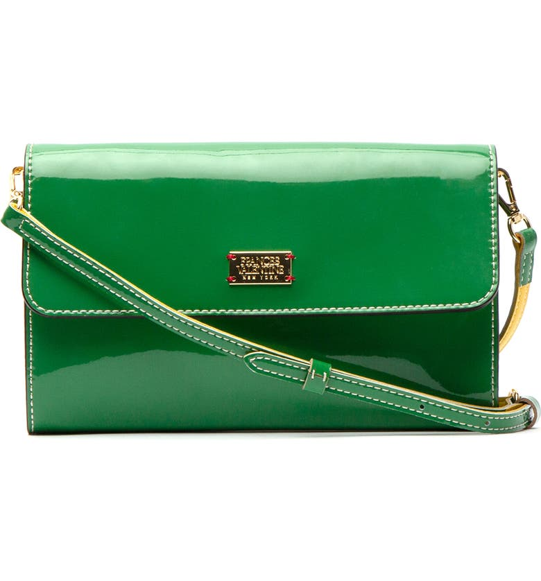 FRANCES VALENTINE Kelly Patent Leather Crossbody Bag, Main, color, GREEN/ YELLOW