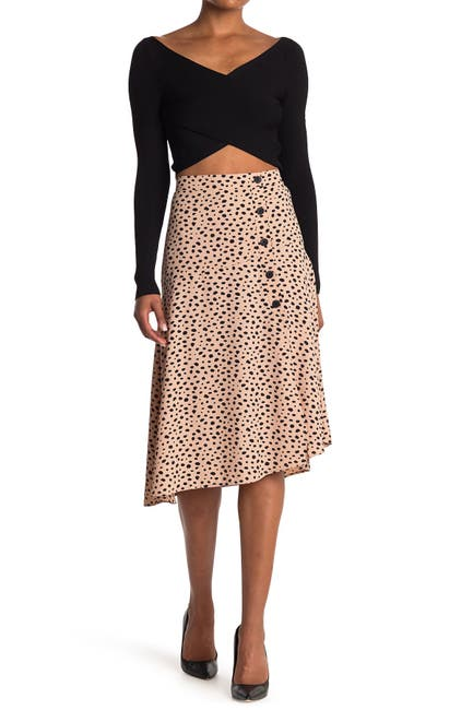 Image of Elodie Side Buttons Skirt