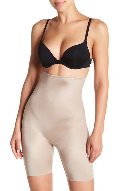 Image of SPANX Slimplicity High Waist Mid-Thigh Shorts