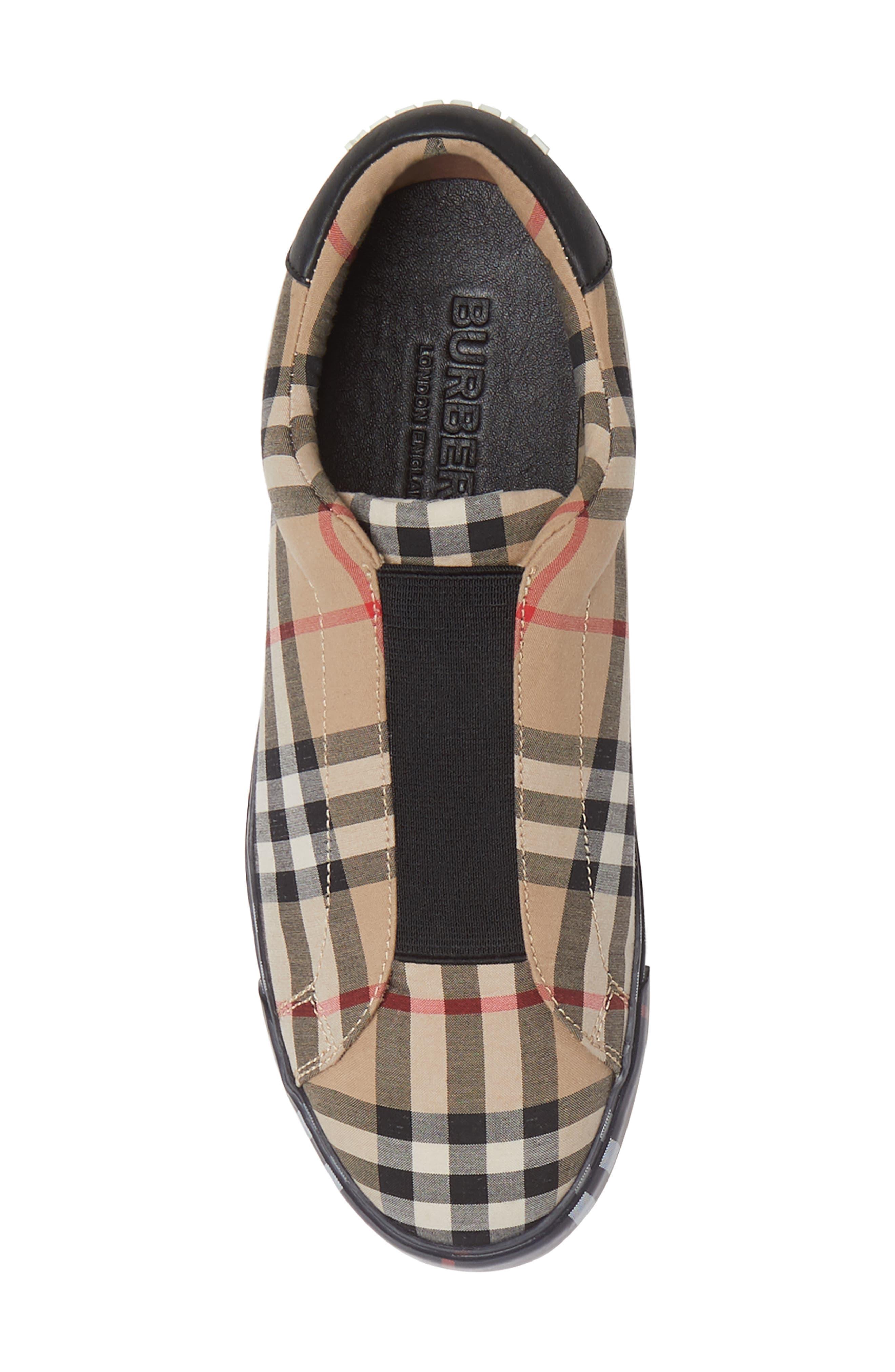 ,                             Markham Vintage Check Slip-On Sneaker,                             Alternate thumbnail 5, color,                             BEIGE PLAID