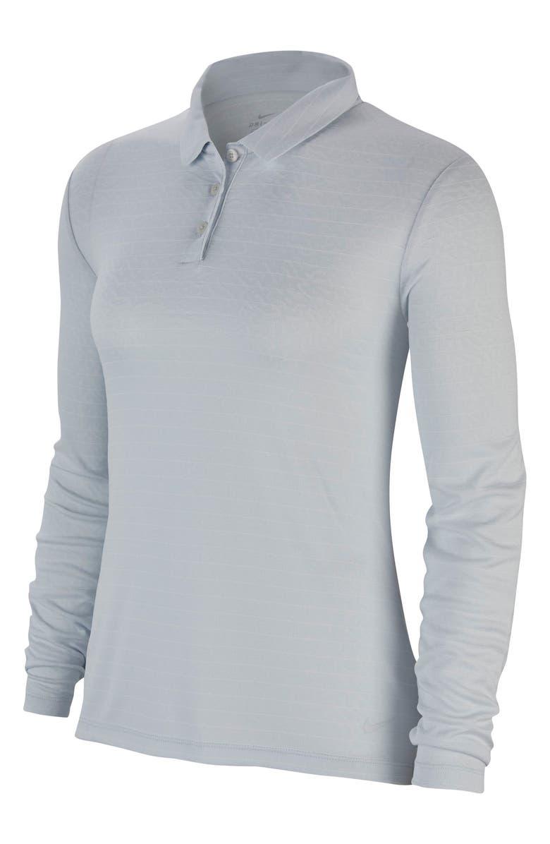 NIKE Dri-FIT Long Sleeve Golf Polo, Main, color, 043