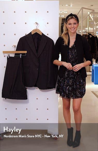 Trim Fit Plaid Wool Suit, sales video thumbnail