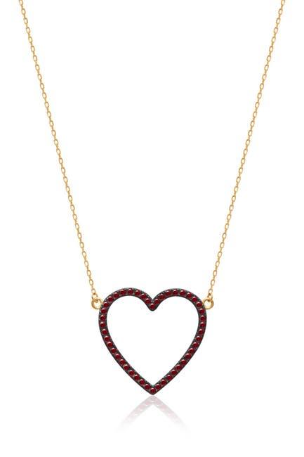 Image of Gabi Rielle 14K Yellow Gold Vermeil Pave CZ Open Heart Pendant Necklace