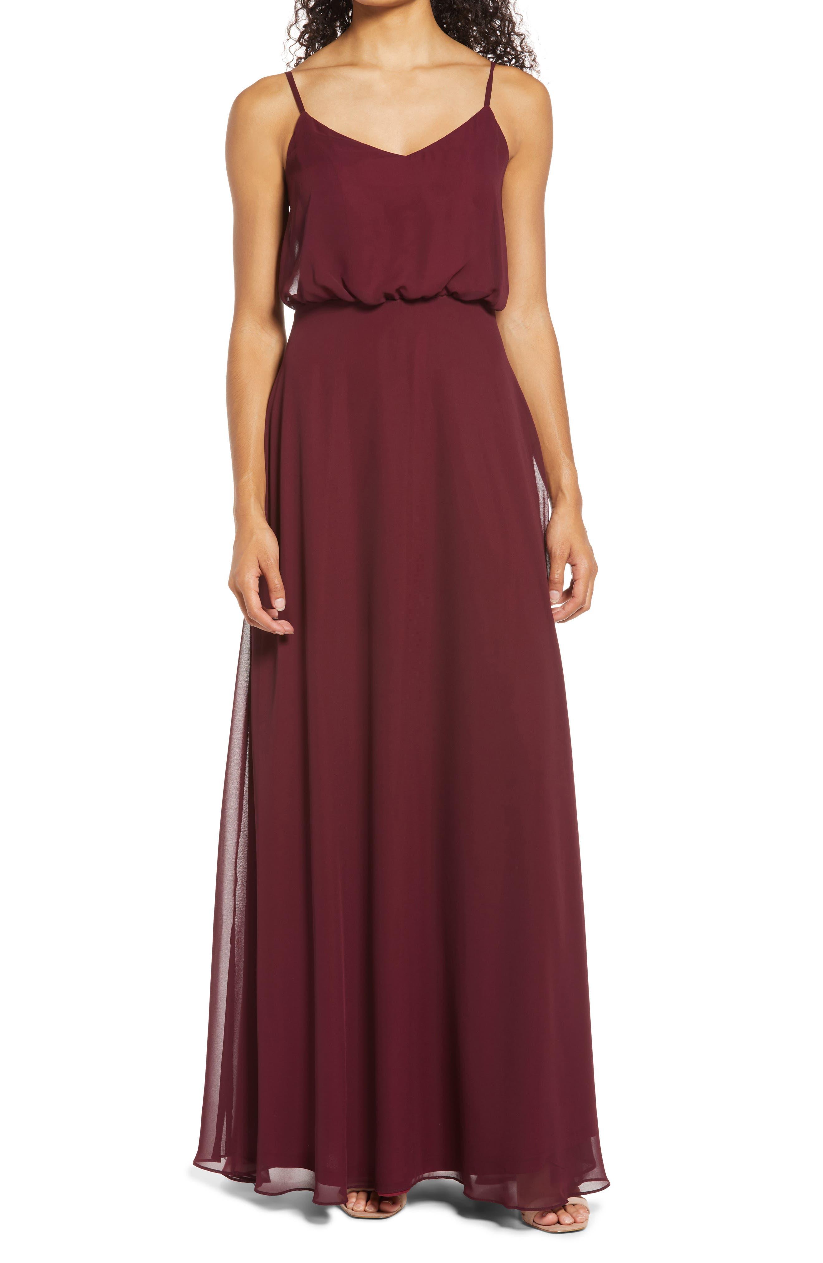 Gwennie Blouson Chiffon Evening Gown