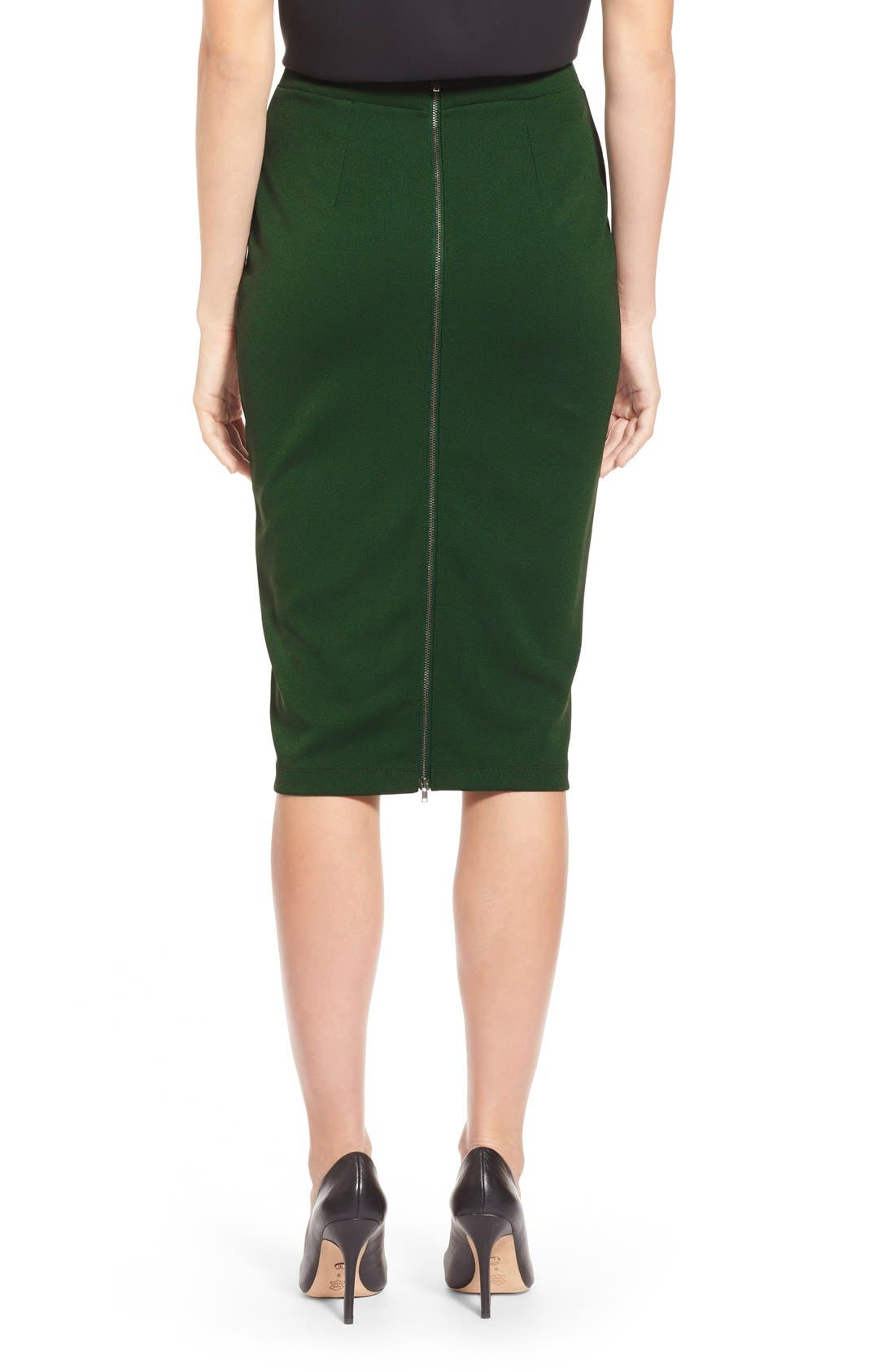 ,                             Zip Back Knit Pencil Skirt,                             Alternate thumbnail 9, color,                             301
