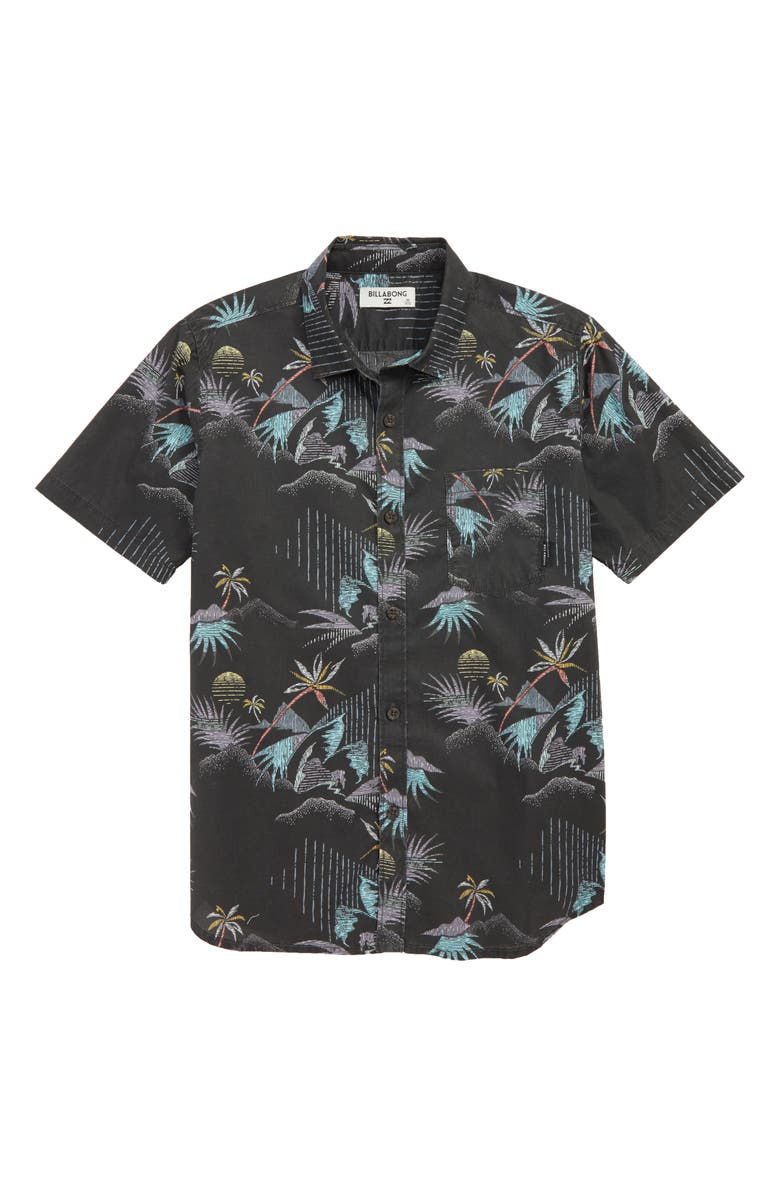 BILLABONG Sundays Floral Print Woven Shirt, Main, color, 001