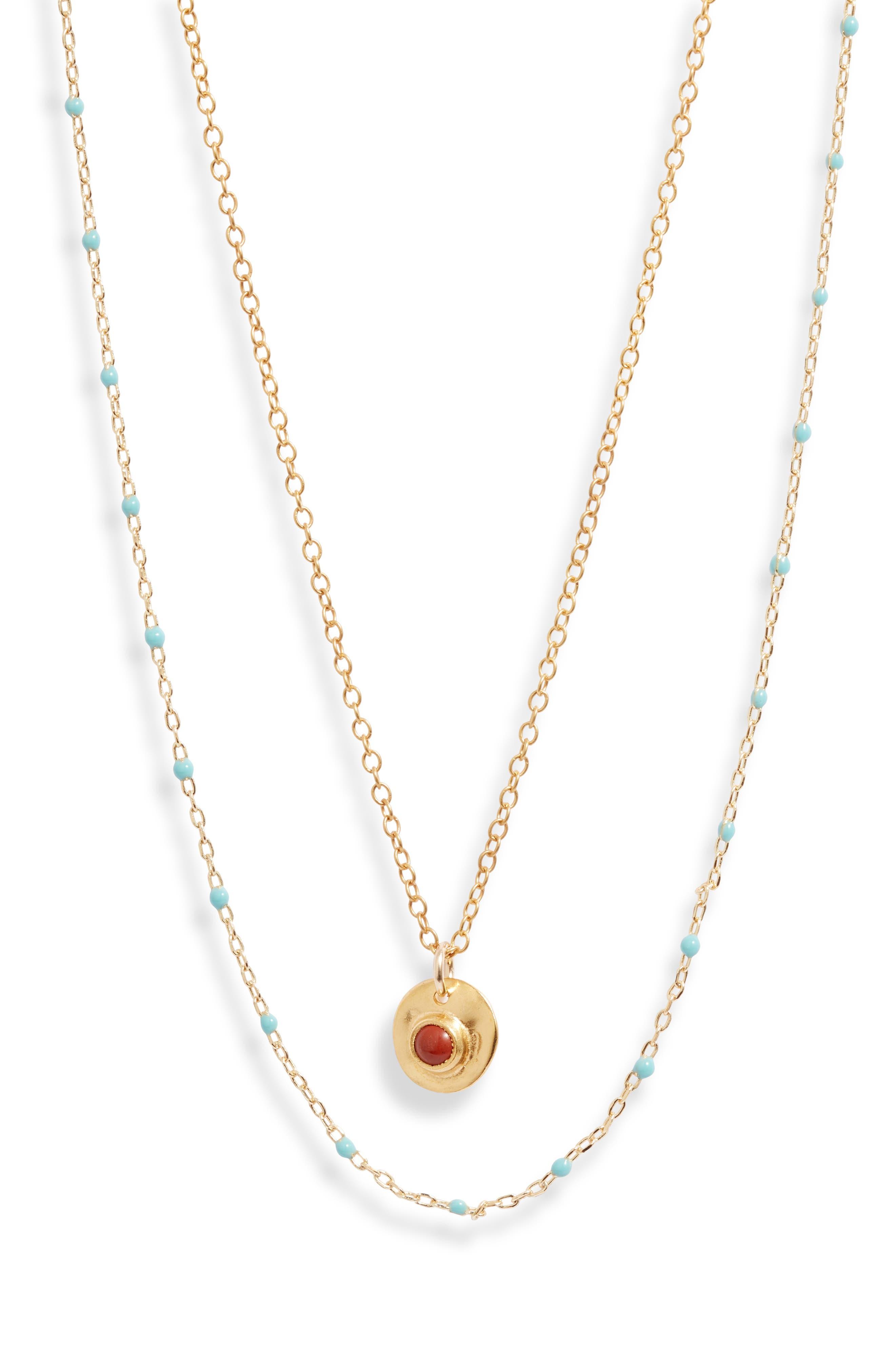 Layered Enamel Beaded Necklace
