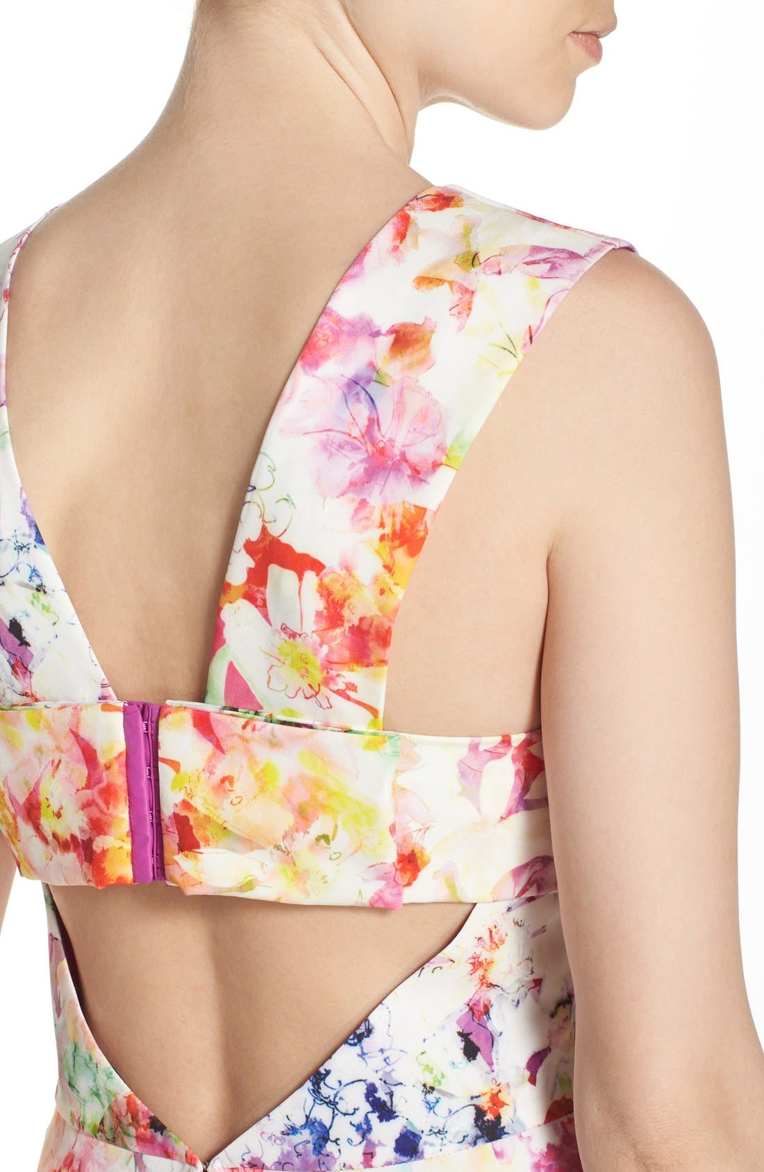 ,                             Bianca Back Cutout Fit & Flare Dress,                             Alternate thumbnail 70, color,                             663