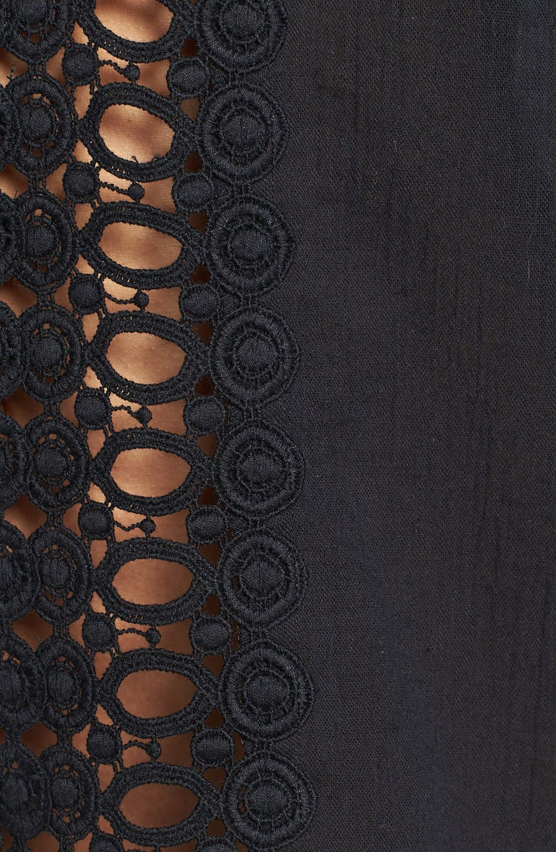 ,                             Crochet Trim Cover-Up,                             Alternate thumbnail 3, color,                             001
