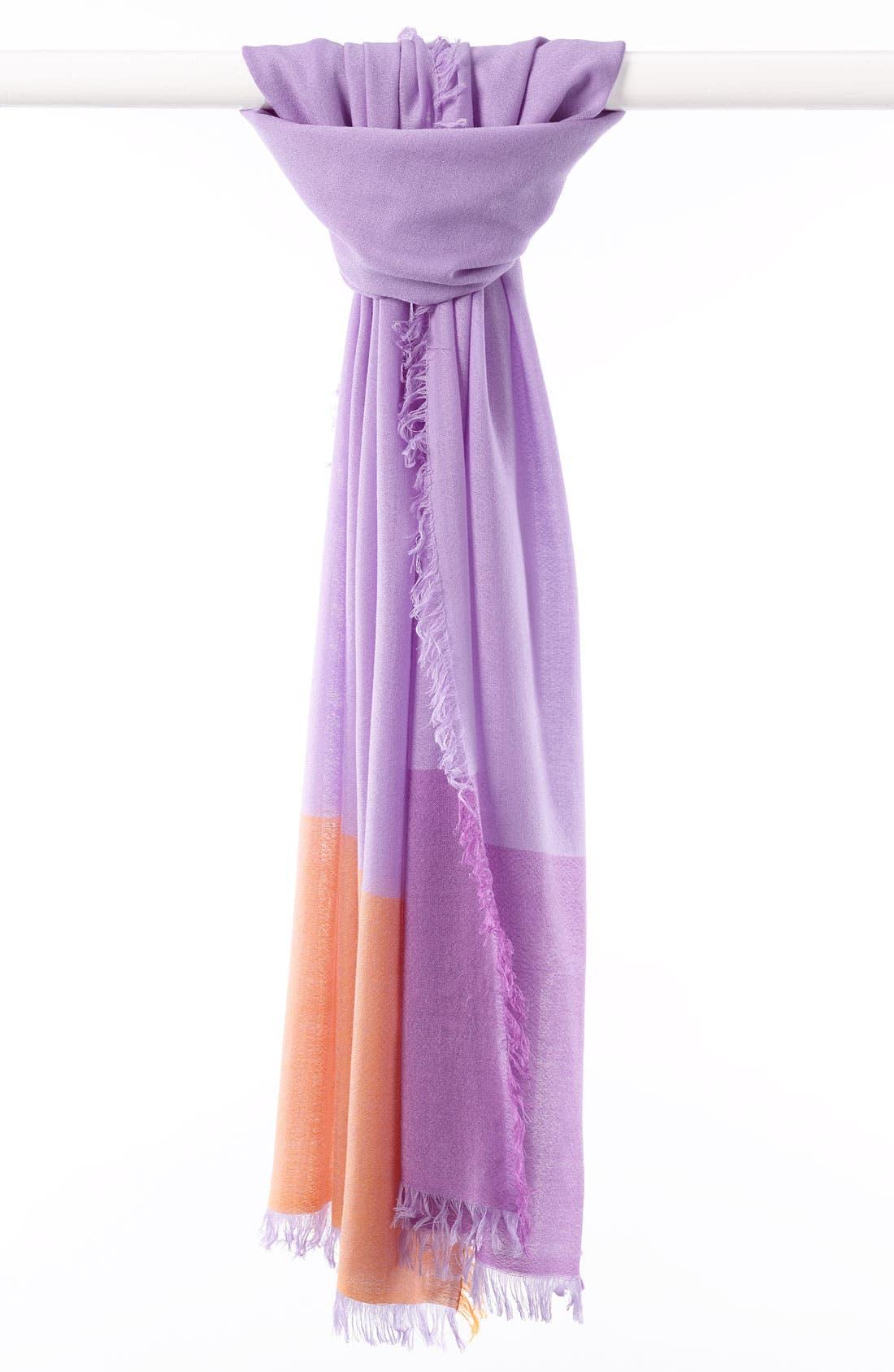 ,                             'Eyelash' Colorblock Cashmere Wrap,                             Main thumbnail 69, color,                             516