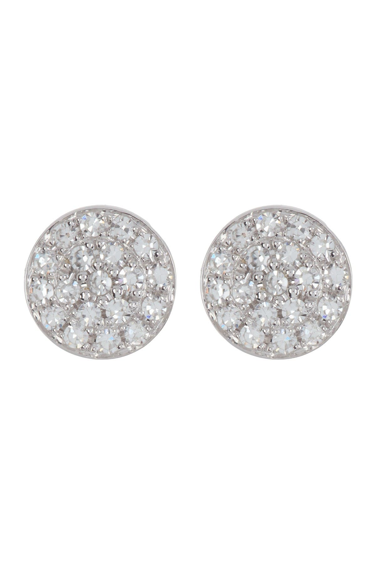 Image of Ron Hami 14K White Gold Micro Diamond Pave Circular Stud Earrings - 0.07 ctw