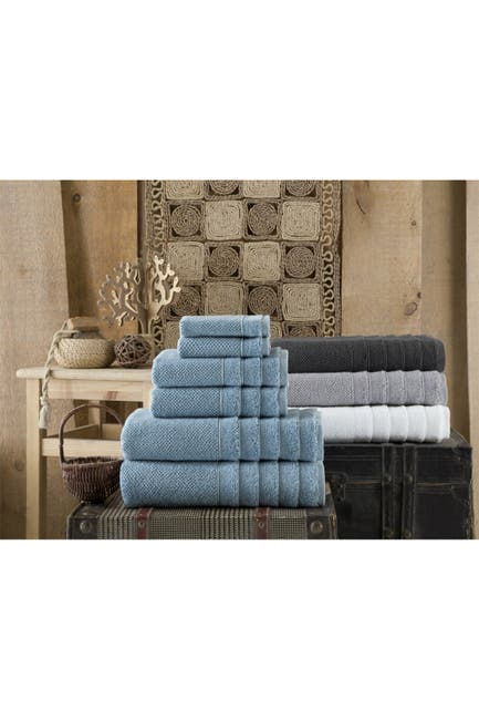 Image of ENCHANTE HOME Veta Turkish Cotton 6-Piece Towel Set