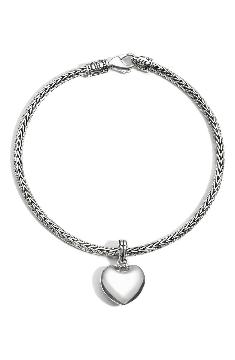 JOHN HARDY Heart Charm Chain Bracelet, Main, color, 040