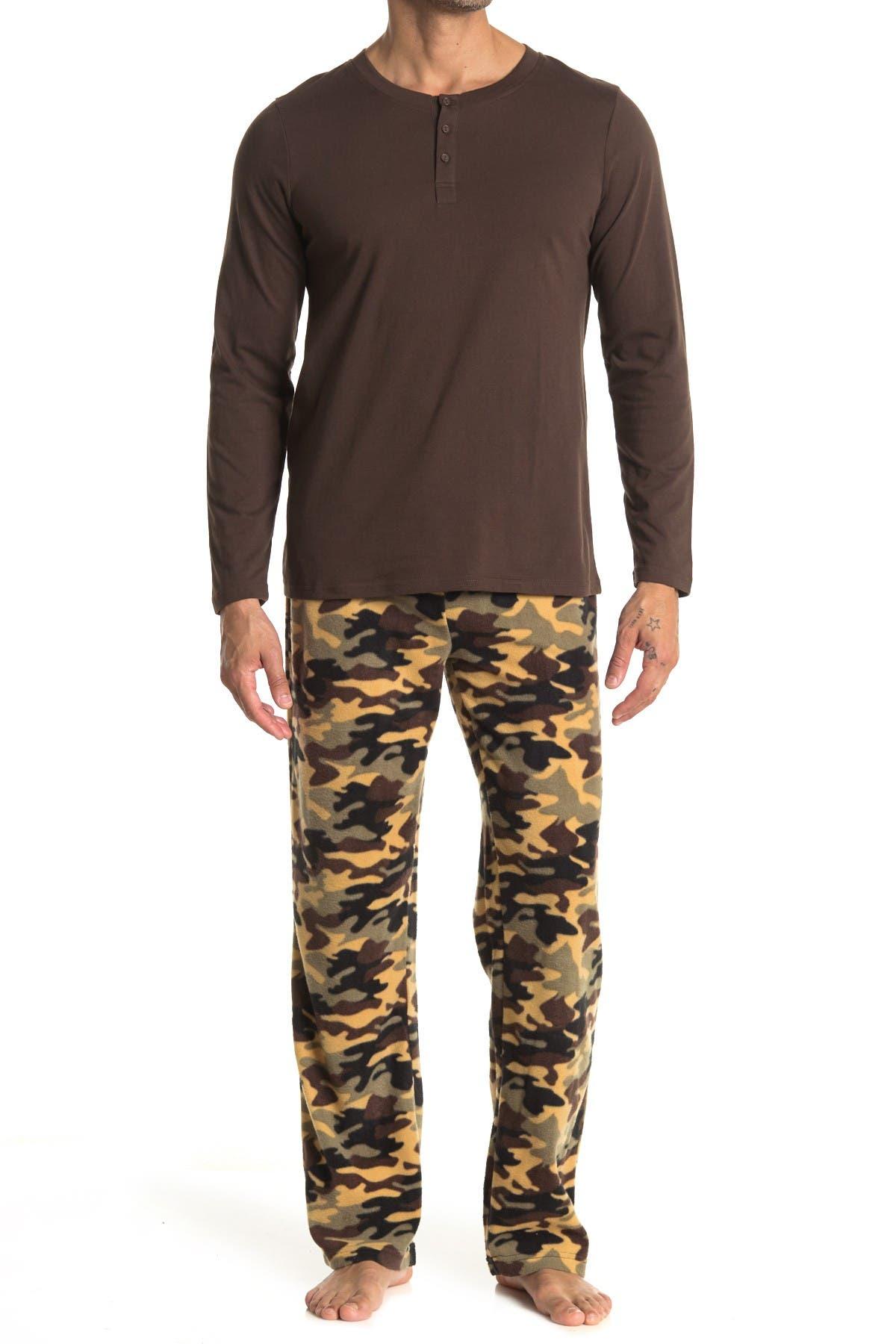 Image of Cherokee Patterned 2-Piece Pajama Set
