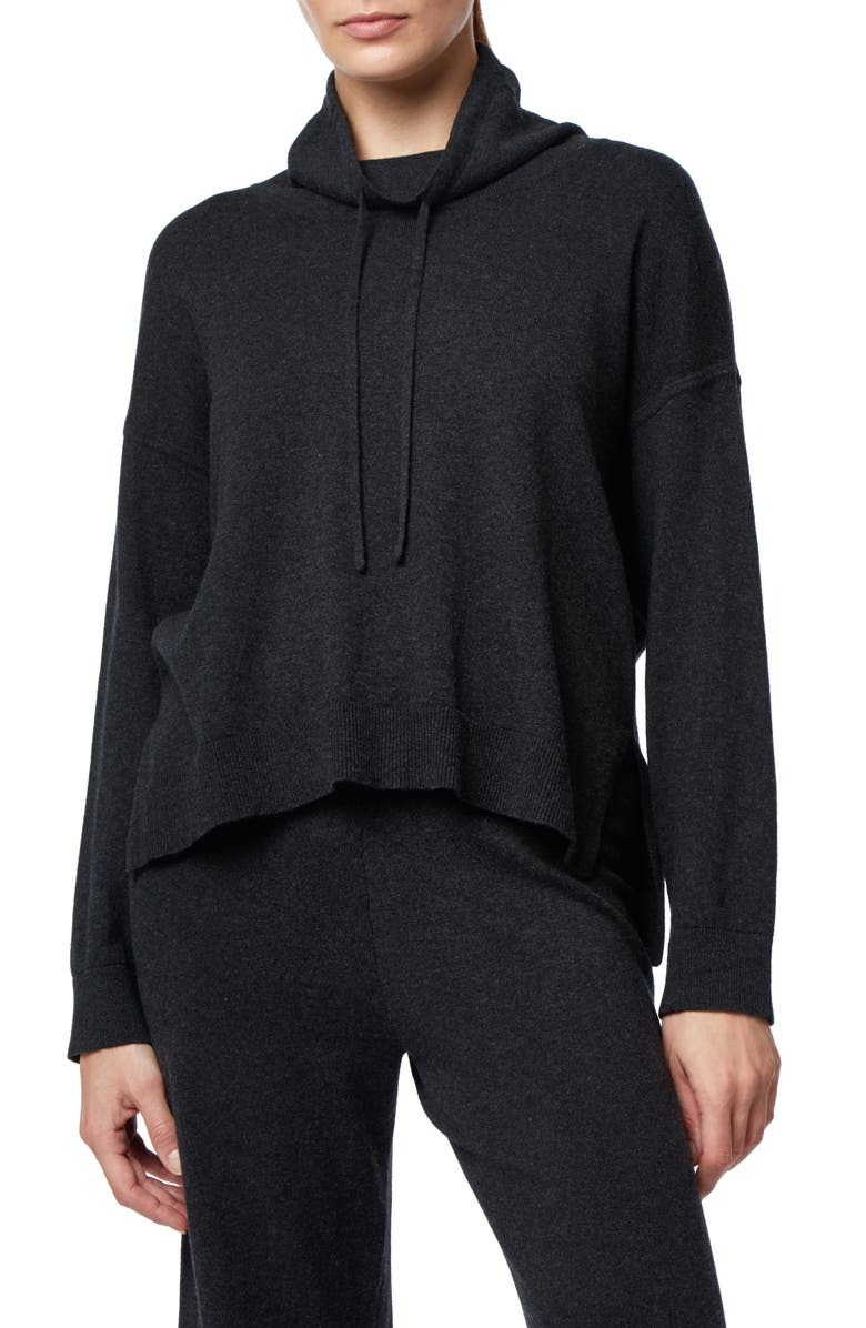 THE WHITE COMPANY Funnel Neck Sweater, Main, color, DARK CHARCOAL MARL