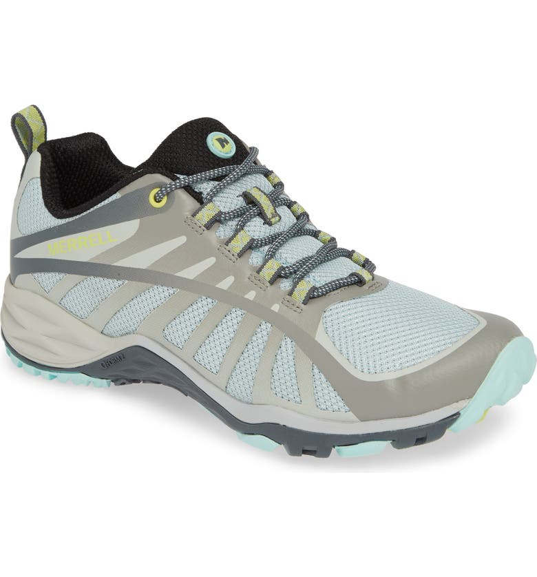 MERRELL Siren Edge Q2 Hiking Shoe, Main, color, PALOMA/ AQUA FABRIC