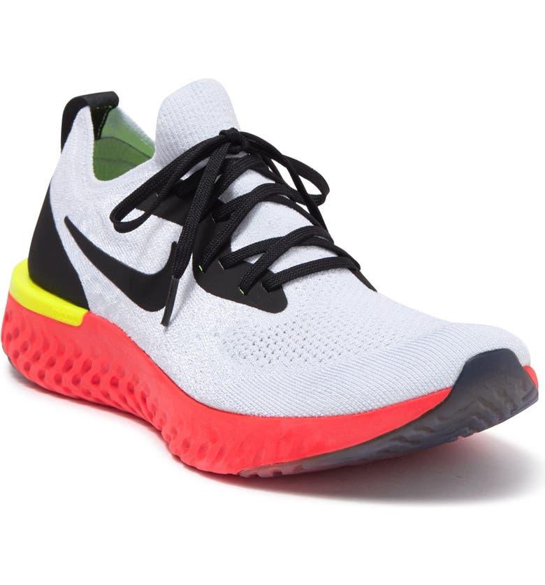 NIKE Epic React Flyknit Running Shoe, Main, color, 103