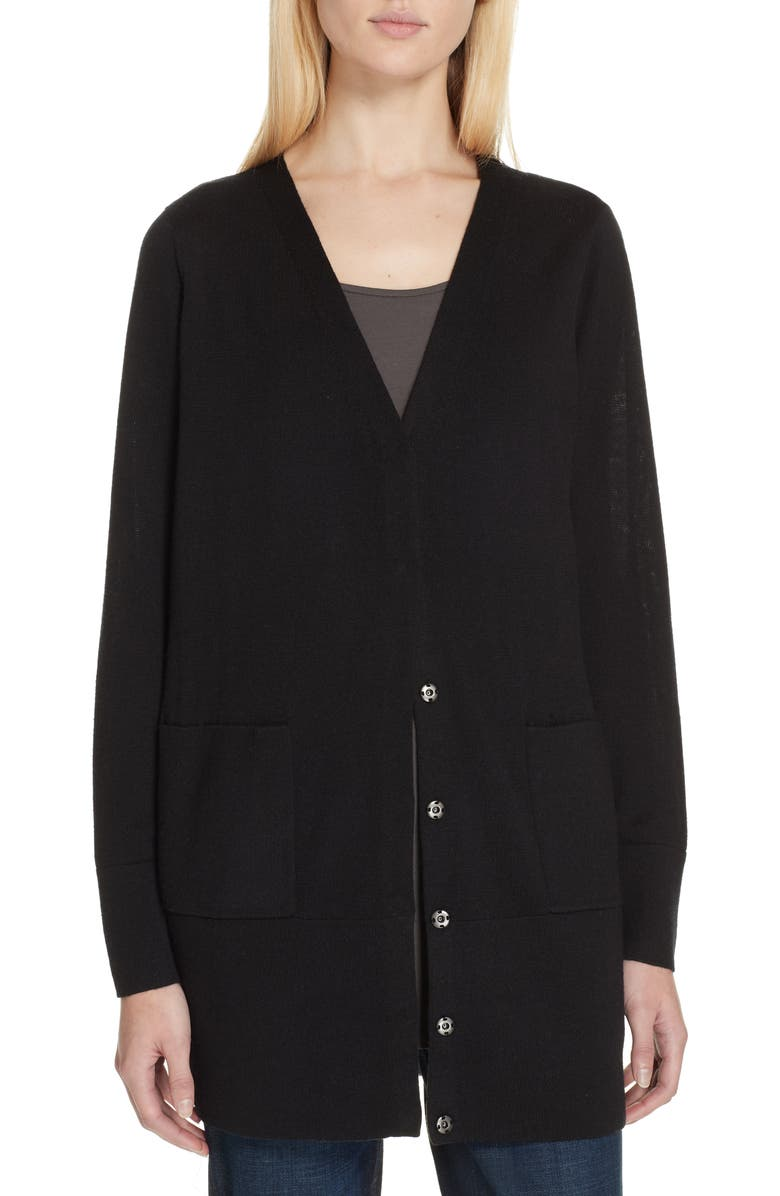 9bd65d44a70f Eileen Fisher Snap Front Merino Wool Cardigan (Regular & Petite ...