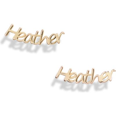 Argento Vivo Personalized Nameplate Earrings