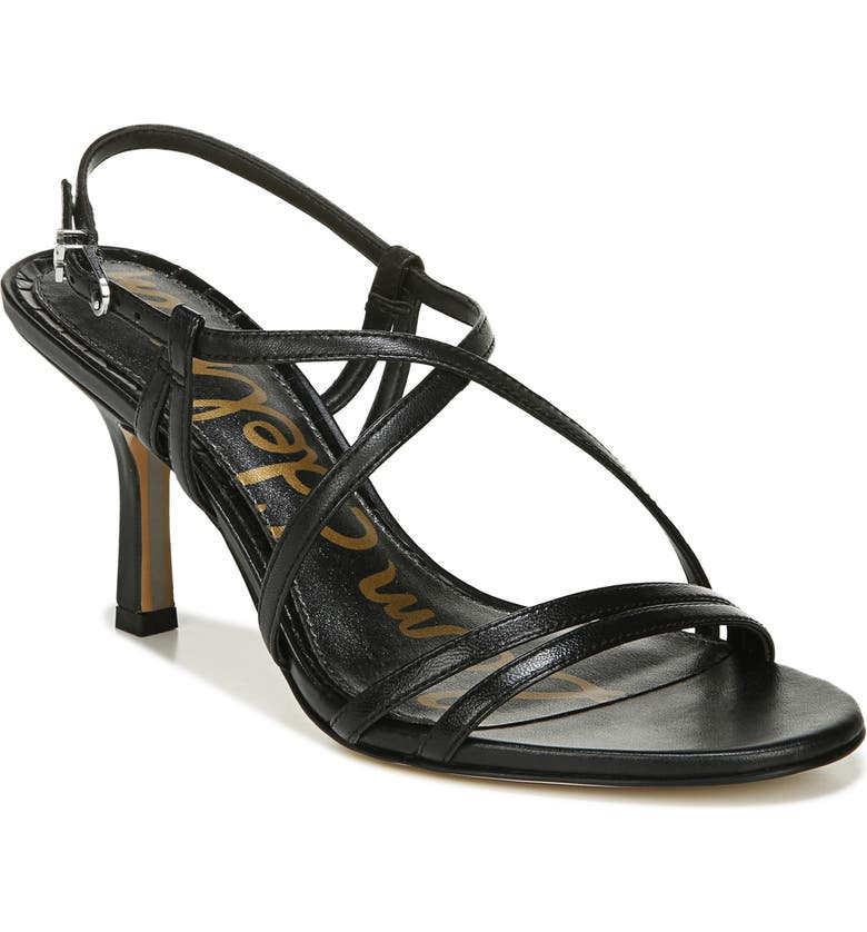 SAM EDELMAN Paislee Strappy Sandal, Main, color, BLACK LEATHER