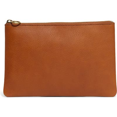 Madewell The Leather Pouch Clutch - Brown