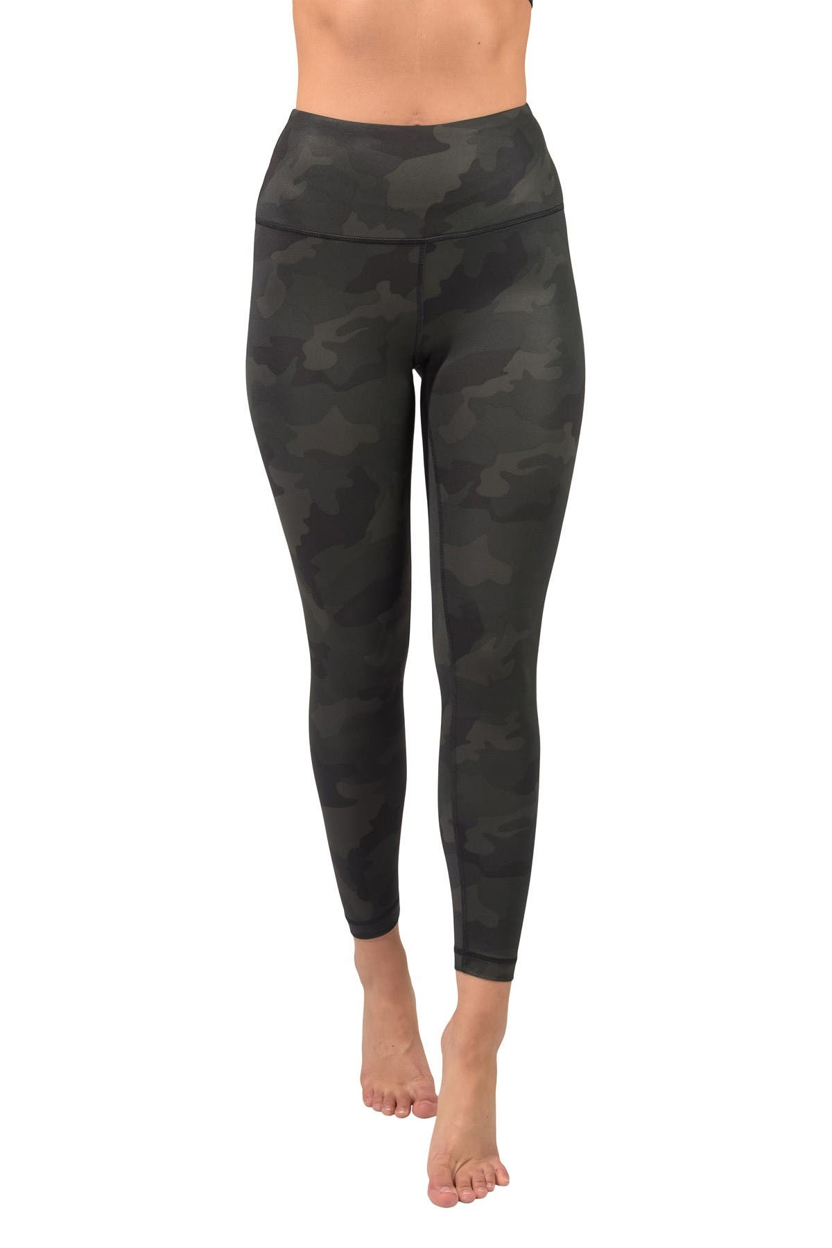 Image of 90 Degree By Reflex Nude Tech High Waist Camo Printed Ankle Leggings
