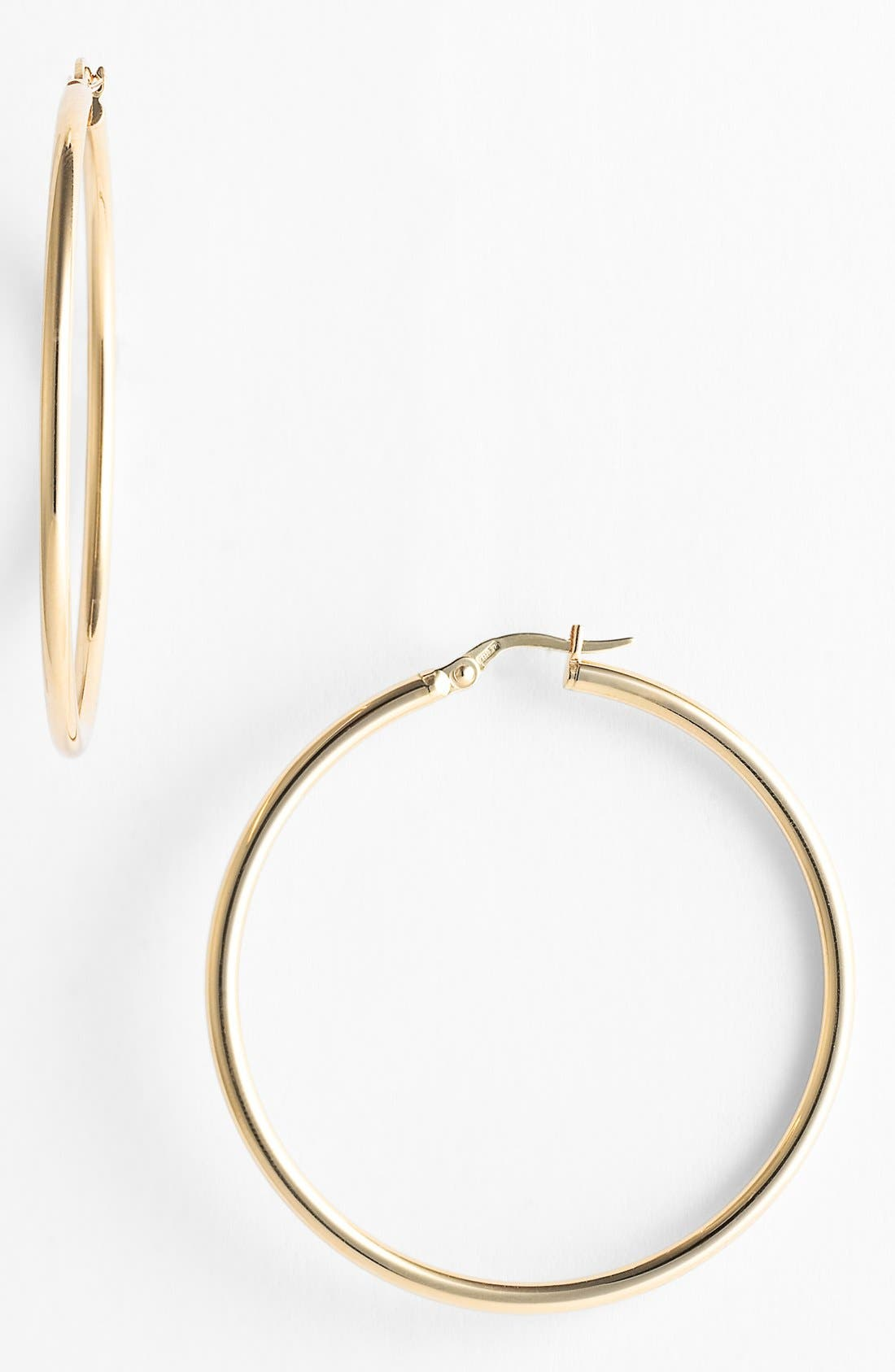 ,                             45mm Gold Hoop Earrings,                             Alternate thumbnail 3, color,                             yellow gold