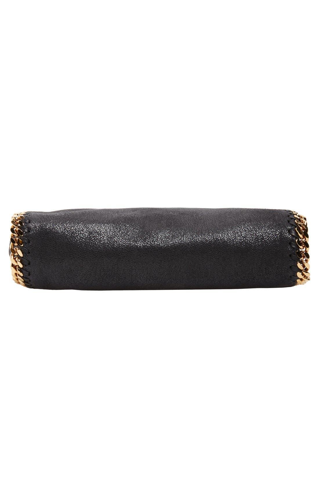 ,                             'Mini Falabella - Shaggy Deer' Faux Leather Tote,                             Alternate thumbnail 4, color,                             BLACK W/ GOLD