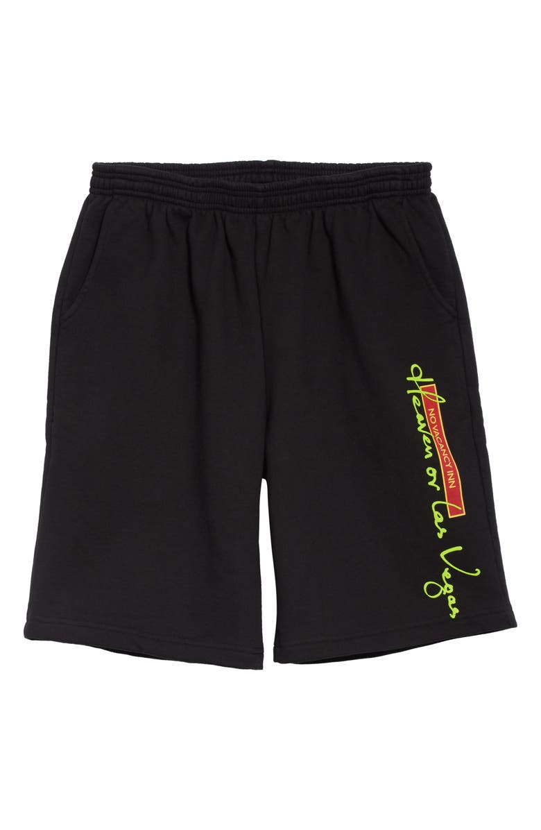 NO VACANCY INN Heaven or Las Vegas Athletic Shorts, Main, color, BLACK