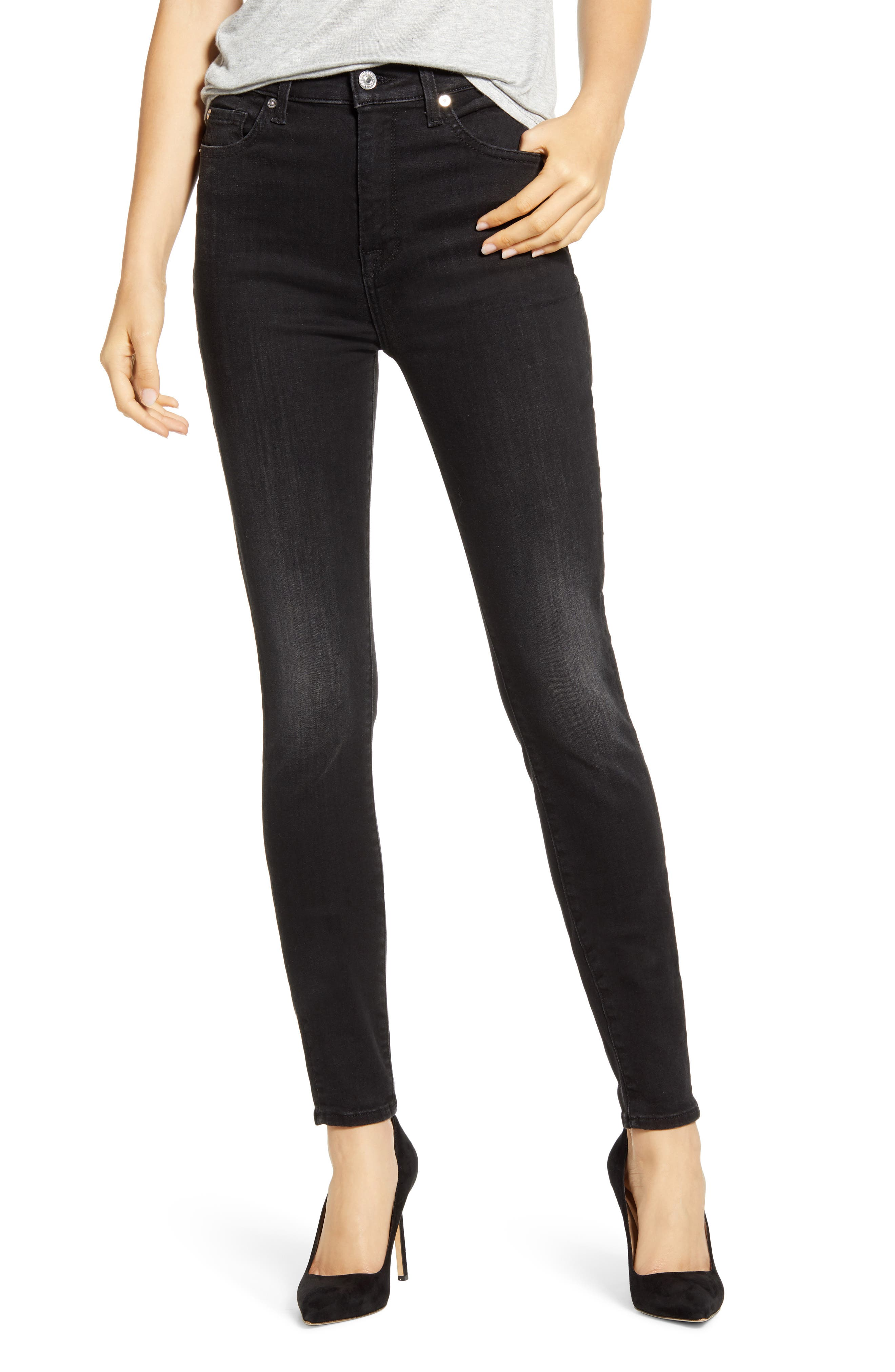 Image of 7 For All Mankind High Waist Ankle Skinny Jeans