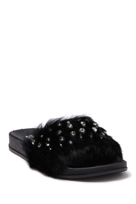 Image of Chase & Chloe Furry Faux Fur Slide
