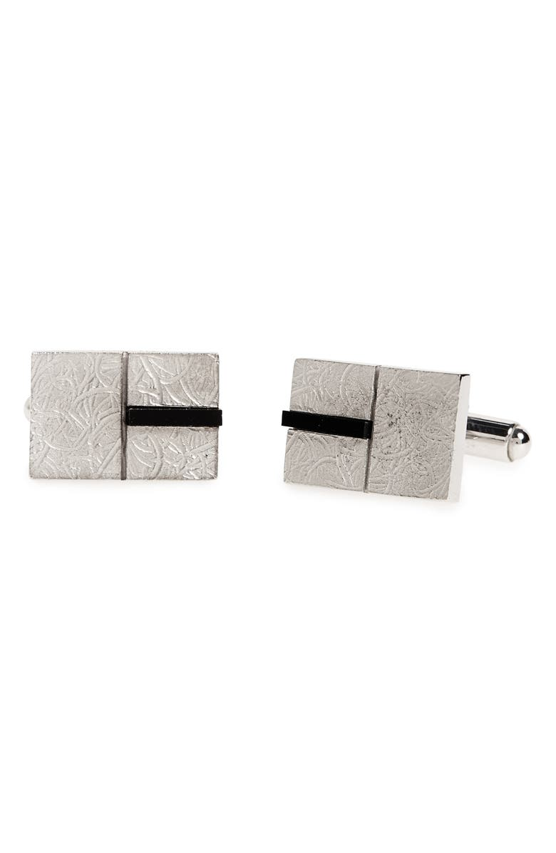 LANVIN Squares Cuff Links, Main, color, 040