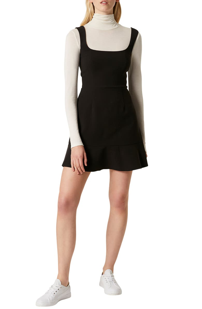 FRENCH CONNECTION Dorotea Square Neck Fit & Flare Dress, Main, color, 001